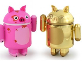 纽约艺术家制作猪年特别版安卓机器人手办
