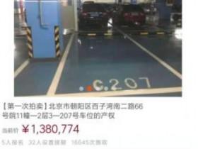 138万!北京一个天价停车位=三线城市两套房?