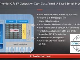 ARM处理器ThunderX2什么时候上市?ThunderX2参数配置