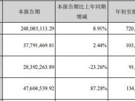 """""""可降解""""塑料利好金丹科技 前三季营收增长12.51%"""