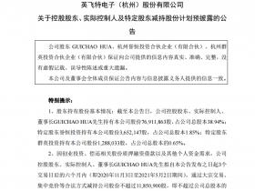 英飞特5个交易日涨94% 深交所发关注函 股东拟减持